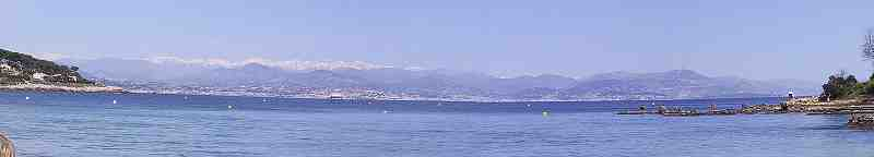 view from Graoupe Beach Cap d'Antibes South of France French Riviera