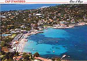 Photograph of Garoupe Beach on Cap d'Antibes