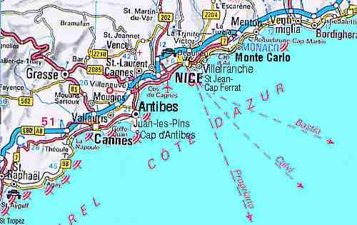 Maps Of Antibes Cap D Antibes And Juan Les Pins
