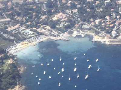 Aerial photo of the Garoupe Bay Riviera Beach